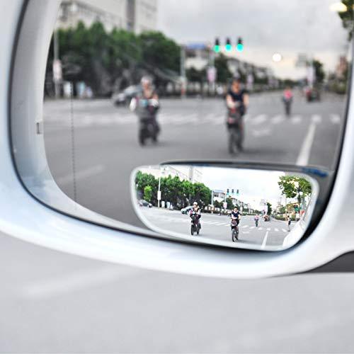 Ocamo - 1 par de Espejos retrovisores para Coche con Espejo Convexo de Gran Angular para estacionar