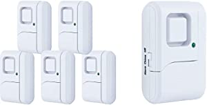 GE Personal Security Window/Door Alarm, 5-Pack, 45987 & Personal Security Window/Door Alarm, DIY Home Protection, Burglar Alert, Magnetic Sensor, Off/Chime/Alarm, Easy Installation, 56789