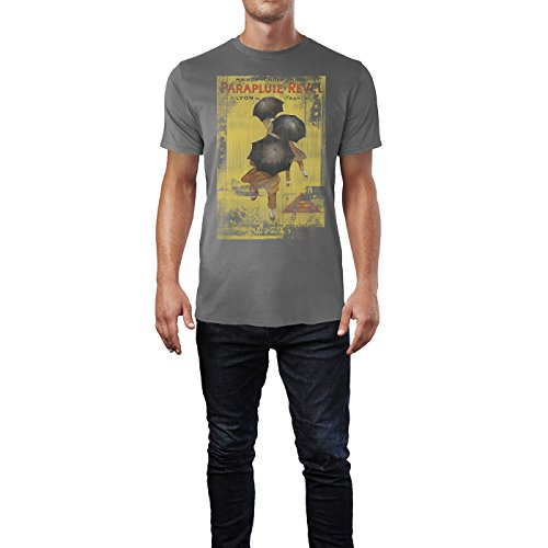 SINUS ART® Parapluie Revel Herren T-Shirts graues Cooles Fun Shirt mit tollen Aufdruck