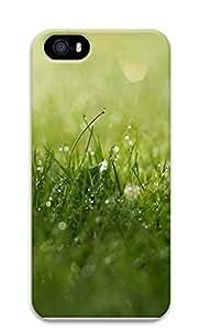 iPhone 5 5S Case Grass Dew Closeup 2295 3D Custom iPhone 5 5S Case Cover
