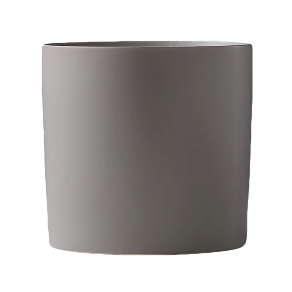 MAHONGQING 花瓶現代のミニマリストセラミック花瓶ホームリビングルームプラグ花小さなディスプレイテーブル装飾装飾品クリエイティブ (Color : Gray) B07RTKZJBK Gray