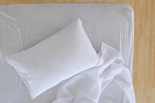 Polycotton Bulk Pack of 24 King Size Pillowcases, White 200 Thread Count, 21x40 White (Fits 20 X36 Pillow), 2 Dozen, Perfect for Physical Therapy Clinics, Hotels, Camps