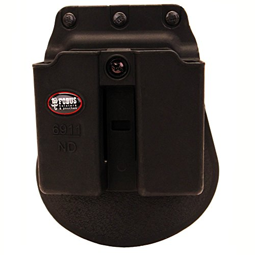 Fobus Double Mag Pouch 9mm .40 Single-Stack (Except Glock, Sw Mp Shield, (Fobus Single Mag Pouch Paddle)