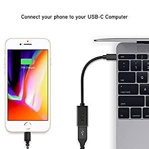 USB Type C to USB 3.0 OTG Adapter, USB-C 3.1 Male to USB 3.0 A Female Adapter, aloici USB-C OTG Host Cable (On the Go) for MacBook Pro, Galaxy S8/Note8/Tab, Pixel 2, OnePlus5, Sony XZ and More (black)