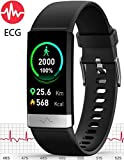 5. MorePro ECG+PPG Fitness Tracker HRV,HD Color Screen Activity Tracker with Heart Rate Blood Pressure,Waterproof Health Watch,Sleep Monitor Pedometer Step Counter for Men Women Android iOS