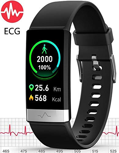 MorePro ECG+PPG Fitness Tracker HRV,HD Color Screen Activity Tracker with Heart Rate Blood Pressure,Waterproof Health Watch,Sleep Monitor Pedometer Step Counter for Men Women Android iOS
