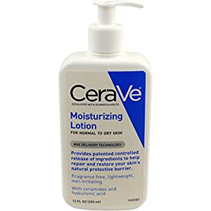 CeraVe Moisturizing Lotion 12 oz Daily Face and Body Lotion for Dry Skin