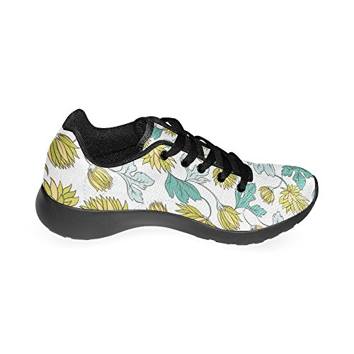 Jogging Athletic Womens Leaves Sports Sneaker 1 Multi Lightweight Shoes InterestPrint Running Floral Walking Vintage wdT0cxqqtF