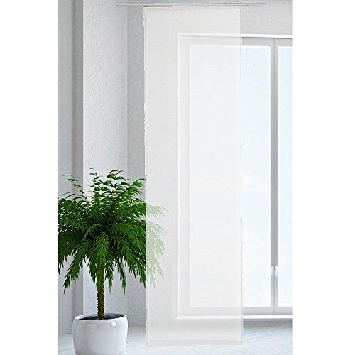 JEMIDI Flächenvorhang Transparent Flächen Vorhang Schiebevorhang Schiebegardine Gardine Weiss