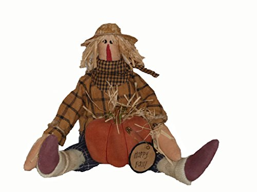 Craft Outlet Happy Fall Primitive Scarecrow Figurine, 10-Inch