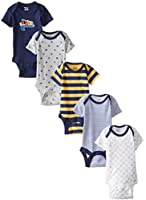 Gerber Baby Boys' 5 Pack Variety Bodysuits