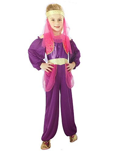 [Totally Ghoul Girls Purple Genie in a Bottle Halloween Costume Dress Up Outfit] (Primrose Halloween Costume)