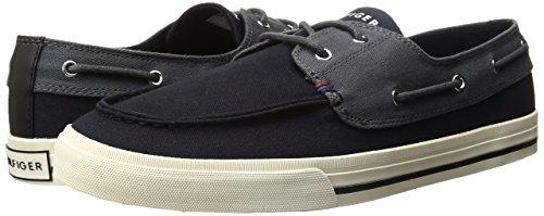Tommy Hilfiger Men's philo Fashion Sneaker, Black, 7.5 M US