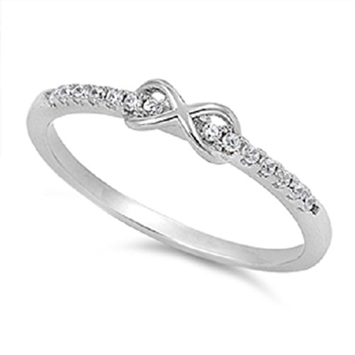 Infinity Love Sterling Silver Sizes product image