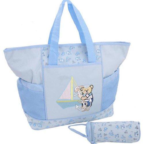 Partiss - Bolso mochila  para mujer verde caqui talla única Azul