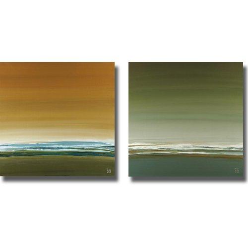 Midmorning and Midmorning II by Kelsey Hochstatter 2-pcプレミアムストレッチキャンバスセットすぐにハング) B007W59174