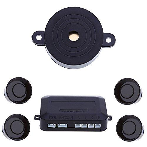 4 Sensors Car Parking Sensor Auto Reverse Rear Assistance Backup Park Radar Buzzer Car Alarm Kit Monitor (Park Parking Assistance System)