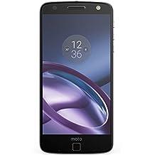"""Moto Z Unlocked Smartphone, 5.5"""" Quad HD screen, 64GB storage, 5.2mm thin - Lunar Grey - 64GB (U.S. Warranty)"""