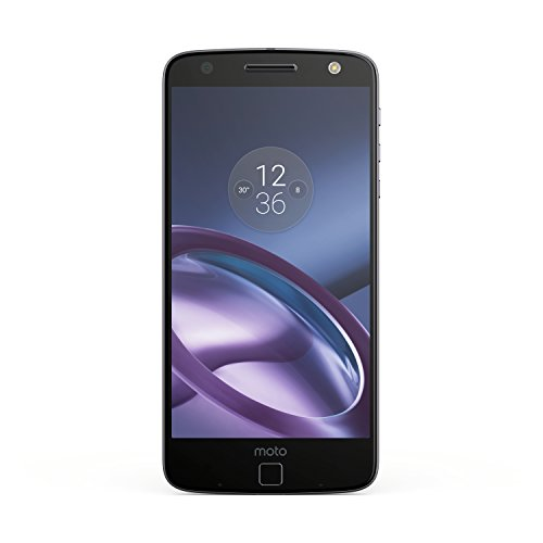"Moto Z Unlocked Smartphone, 5.5"" Quad HD screen, 64GB storage, 5.2mm thin - Lunar Grey - 64GB (U.S. Warranty)"