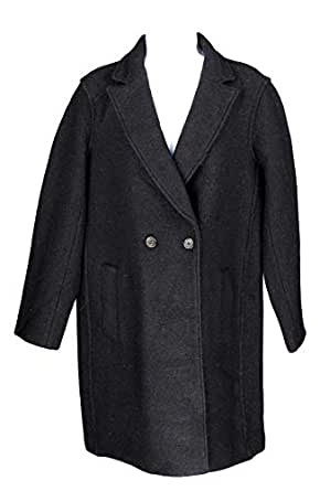 Amazon.com: J Crew Womens Daphne Top Coat in Boiled Wool Black Wool Coat Winter 2 J4864: Clothing