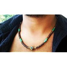 Mens necklace - Surfer necklace - Jadeite and hematite gems - Men Neckless - Gifts for men - Unisex necklace - Men jewelry