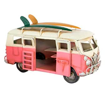 Bus Camper groß XXL Blechmodell Retro Vintage Modellauto Nostalgie ...