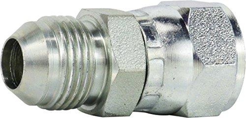 Midland 6504-8-8 Hydraulic Female Connector 3//4-16 JIC Thread x 3//4-16 JIC Thread