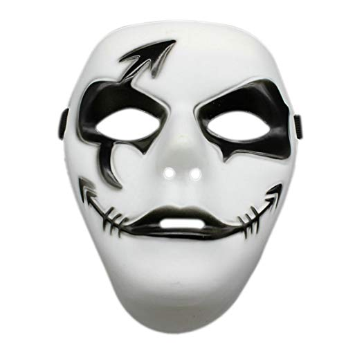 Party Masks - Hand Painted Halloween Ghost Dance Hip Hop Performances Masks Party Dress Mask Decoration - Photo Bulk Couples Women Props Animal Gold Masquerade Black 100 ()