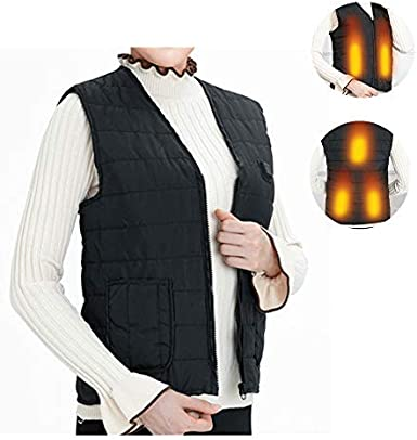 77JOK Womens Electric Heated Vest USB Charging Washable Heating Vests Lightweight Self Heating Winter Warm Vests