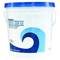 Boardwalk HURACAN40 Low Suds Laundry Detergent, Powder, 40 lb. Pail