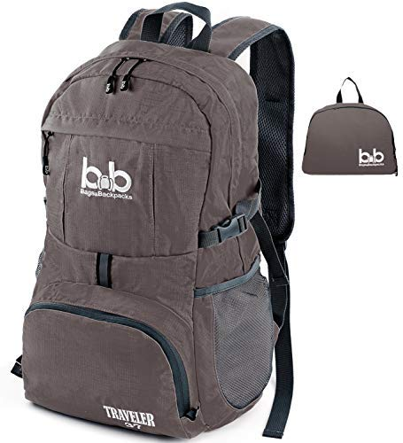 LigLightweight Durable Foldable Travel Hiking Backpack, Daypack for Men, Women, Kids