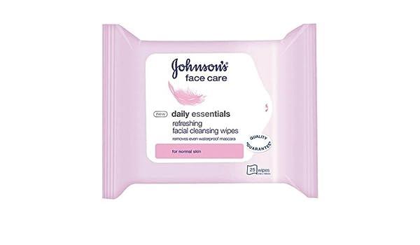 Johnson S Toallitas de limpieza facial para el cuidado de la cara diario, 25 toallitas - Pack de 3: Amazon.es: Salud y cuidado personal