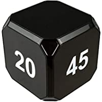 TimeCube Plus Preset Timer with 4 LED Light Alarm for Time Management, and Countdown Settings (Black - 2,10,20,45 min)