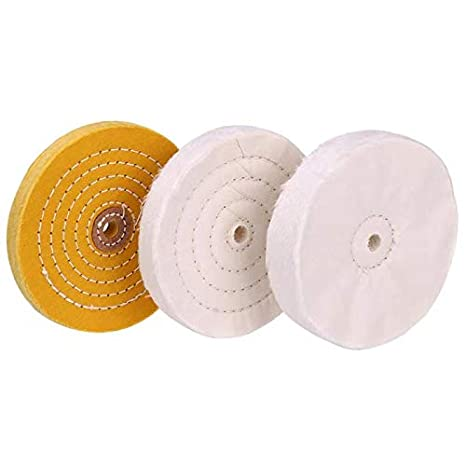 Pleasant 6 Inch Buffing Polishing Wheel 1 2 Inch Arbor Hole For Bench Grinder Buffer Tool Coarse Medium Soft 3Pcs Beatyapartments Chair Design Images Beatyapartmentscom