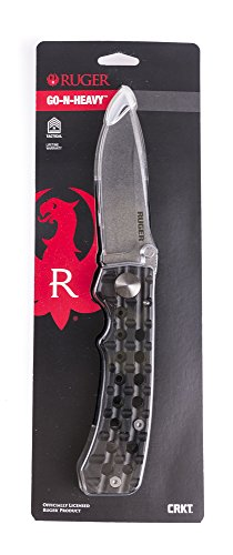 Columbia River Knife & Tool Ruger Go-N-Heavy Knife - Edge Silver Aluminum Handle Plain