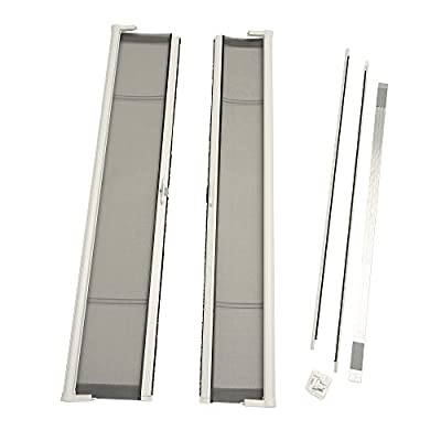 ODL Brisa Premium Retractable Screen Kit for 80 in. Inswing Hinged Double Doors - White