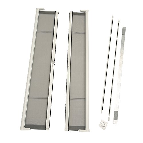 ODL Brisa Premium Retractable Screen Kit for 80 in. Inswing Hinged Double Doors - White (Double Hinged Doors)