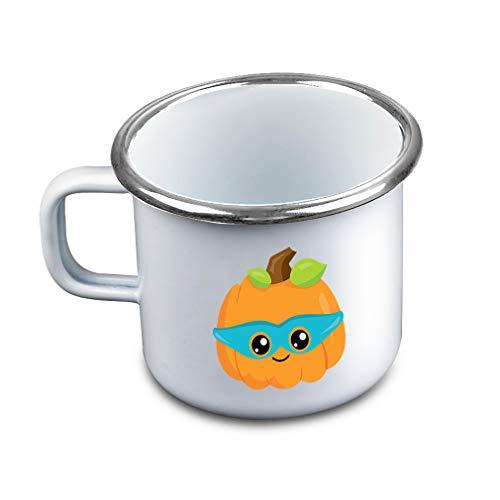 Halloween Pumpkin Mask Metal Camping Mug Enamel Cup -