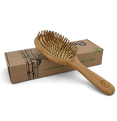 Detangling Bamboo Brush in an Eco Friendly Box, Natural Brush for All Hair Types, Bamboo Bristles Massage Scalp, Order yours! - Type Massage