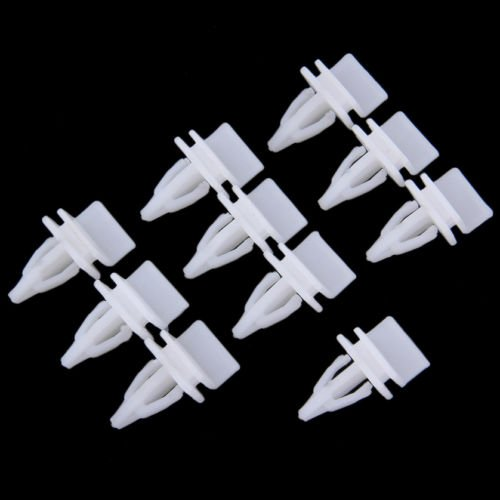 Alicenter(TM) 10pc Push Rivet Retainer Fastener Panel Skirt Sill Clips For Honda For (Sill Retainer)
