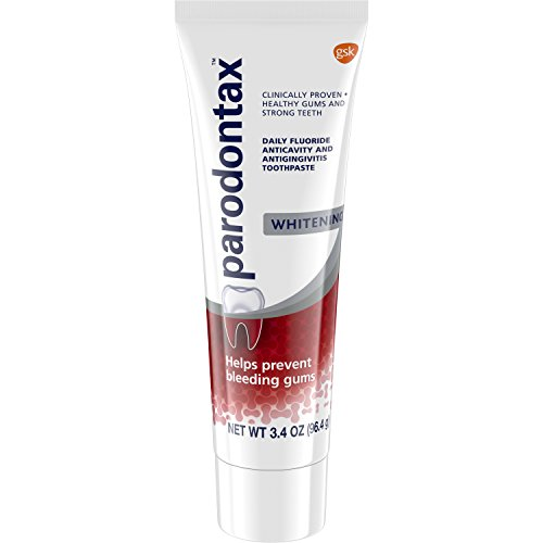 Parodontax Whitening Toothpaste for Bleeding Gums, 3.4 Ounce (Pack of 6) - 6 Bleeding Gums