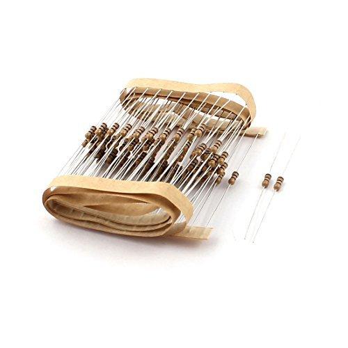 DealMux 100Pcs 100 Ohm 1/4W 5% Tolerance Axial Electrical Carbon Film Resistor (Resistor Film Lead Carbon Axial)