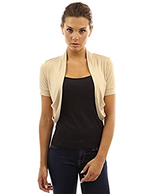PattyBoutik Women's Pleated Sides Bolero Shrug