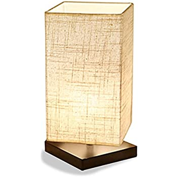 ZEEFO Simple Table Lamp Bedside Desk Lamp With Fabric Shade And Solid Wood  For Bedroom, Part 92