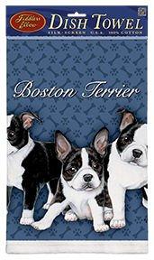 Fiddlers Elbow Boston Terrier Puppy Kitchen Towel (Towel Kitchen Terrier)