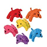 Plush Neon Dalmatians- Amazingly Soft , Perfect Size For a Comfortable Addition To Any Bedroom, Display Piece, Decoration, Playroom, Stocking Stuffer and More