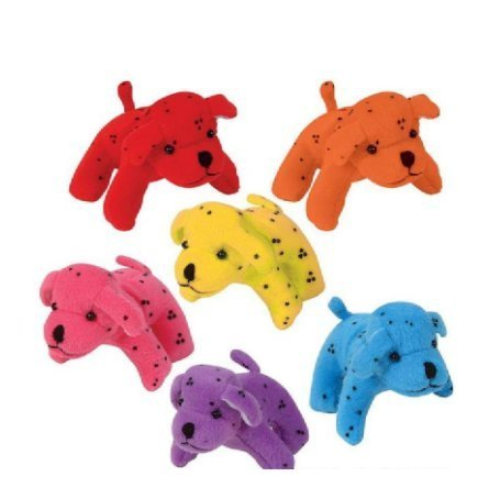 Plush Neon Dalmatians- Amazingly Soft , Perfect Size For a Comfortable Addition To Any Bedroom, Display Piece, Decoration, Playroom, Stocking Stuffer and More (Assortment Puppy)