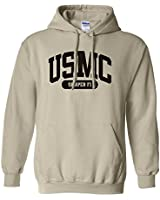 USMC Semper Fi Marines Hooded Sweatshirt in Sand - Medium