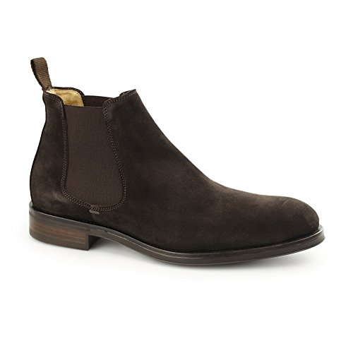 Men's John White Portchester Leather Chelsea Boots Brown Suede VLzZSzdU
