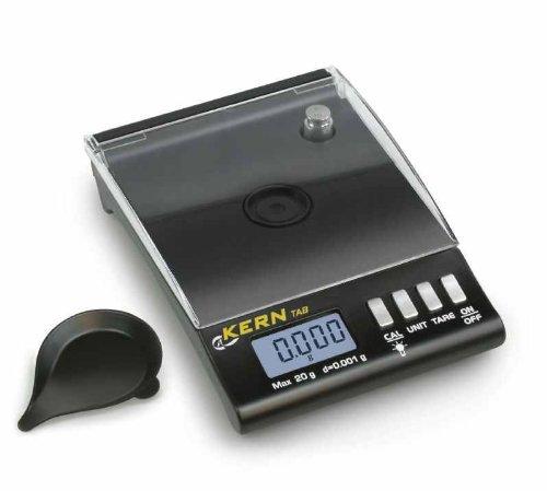 Balance /à carats de poche tr/ès pr/écise pour bijoutiers et voyageurs Kern TAB 20-3 - Lecture 0,001 g Port/ée 20 g